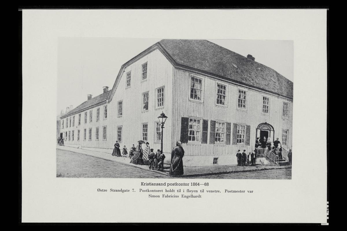 eksteriør, postkontor, 4604 Kristiansand, gatebilde
