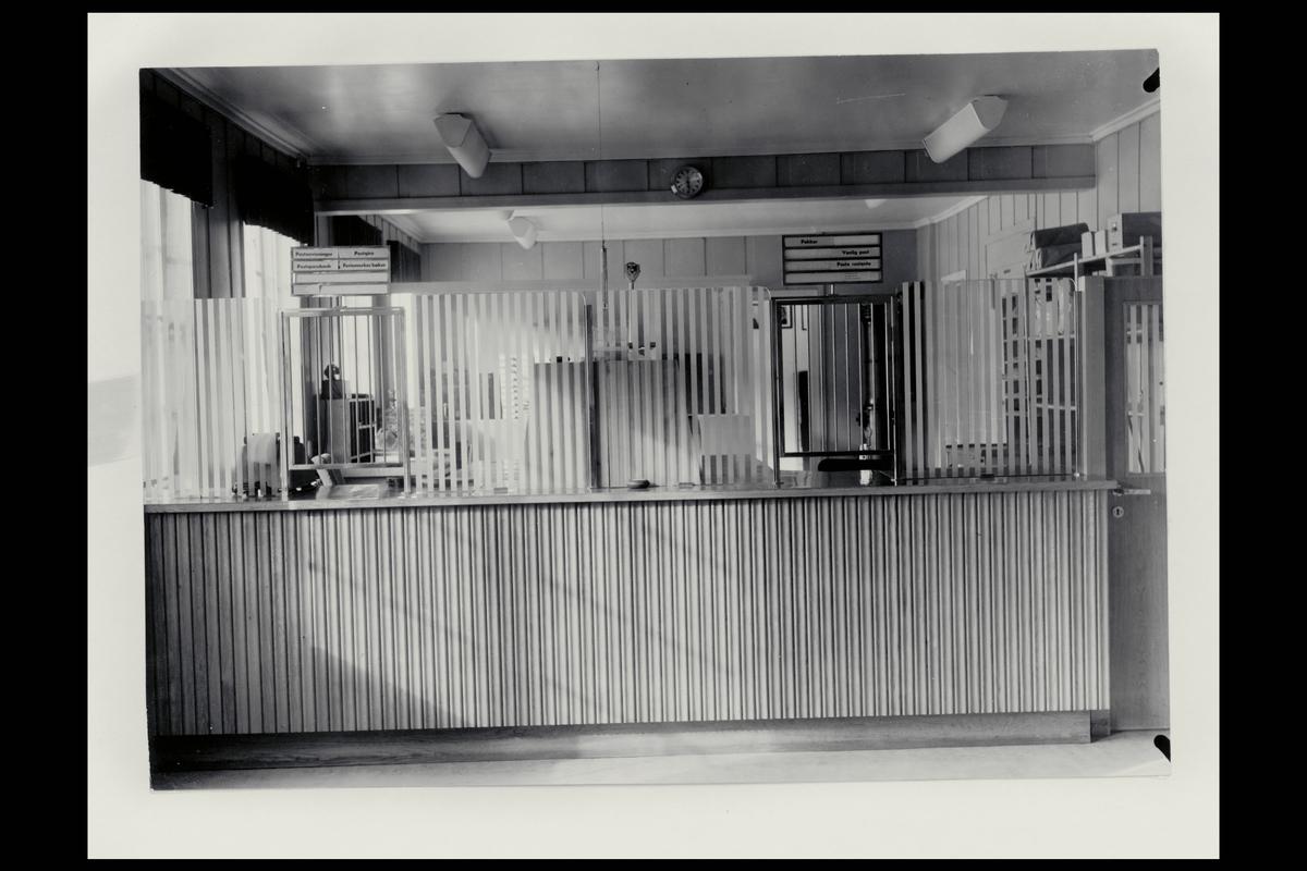 interiør, postkontor, 7460 Røros, publikumshall