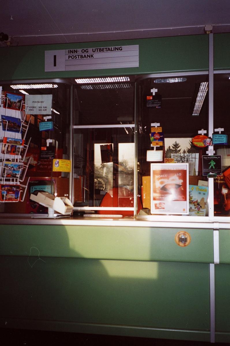 interiør, postkontor, 0137 Bekkelaget, skranke, publikumsrom, luke 1, opplysningsskilt