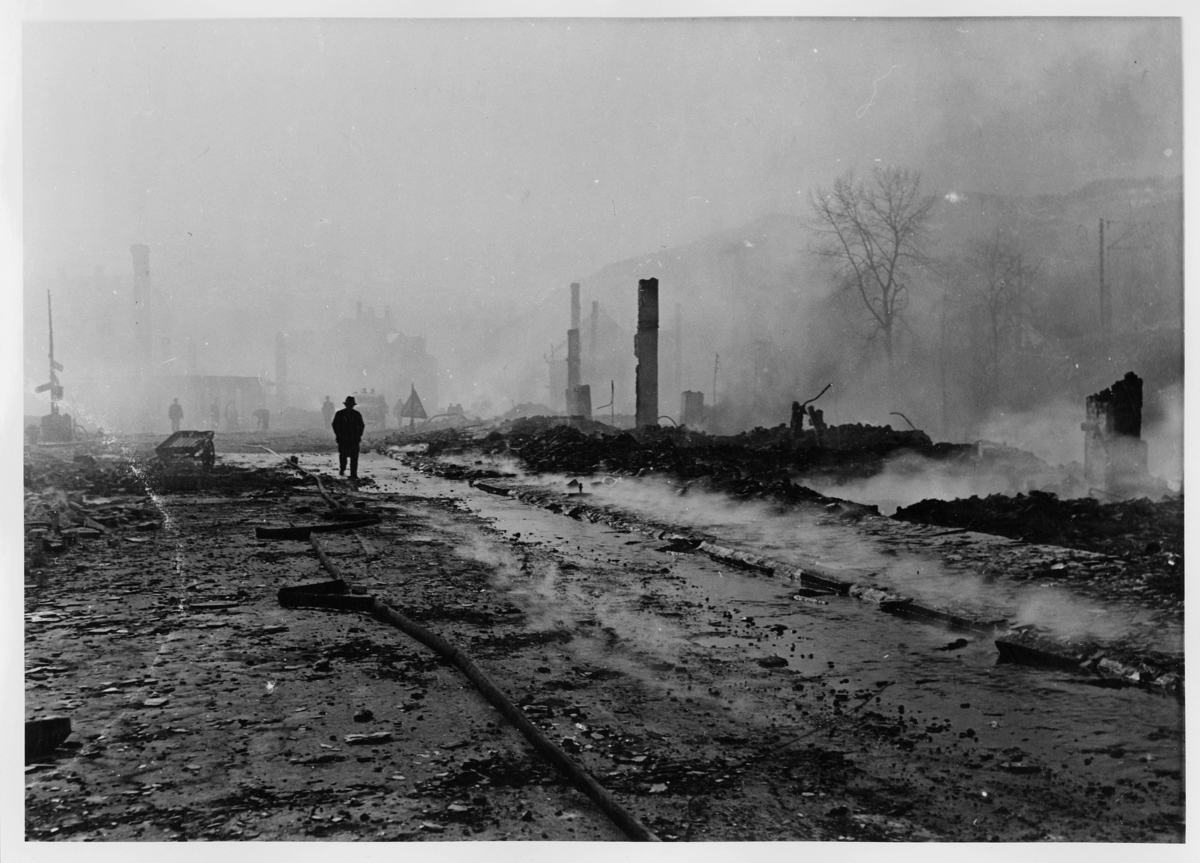 krigen, Voss, eksteriør, ruiner