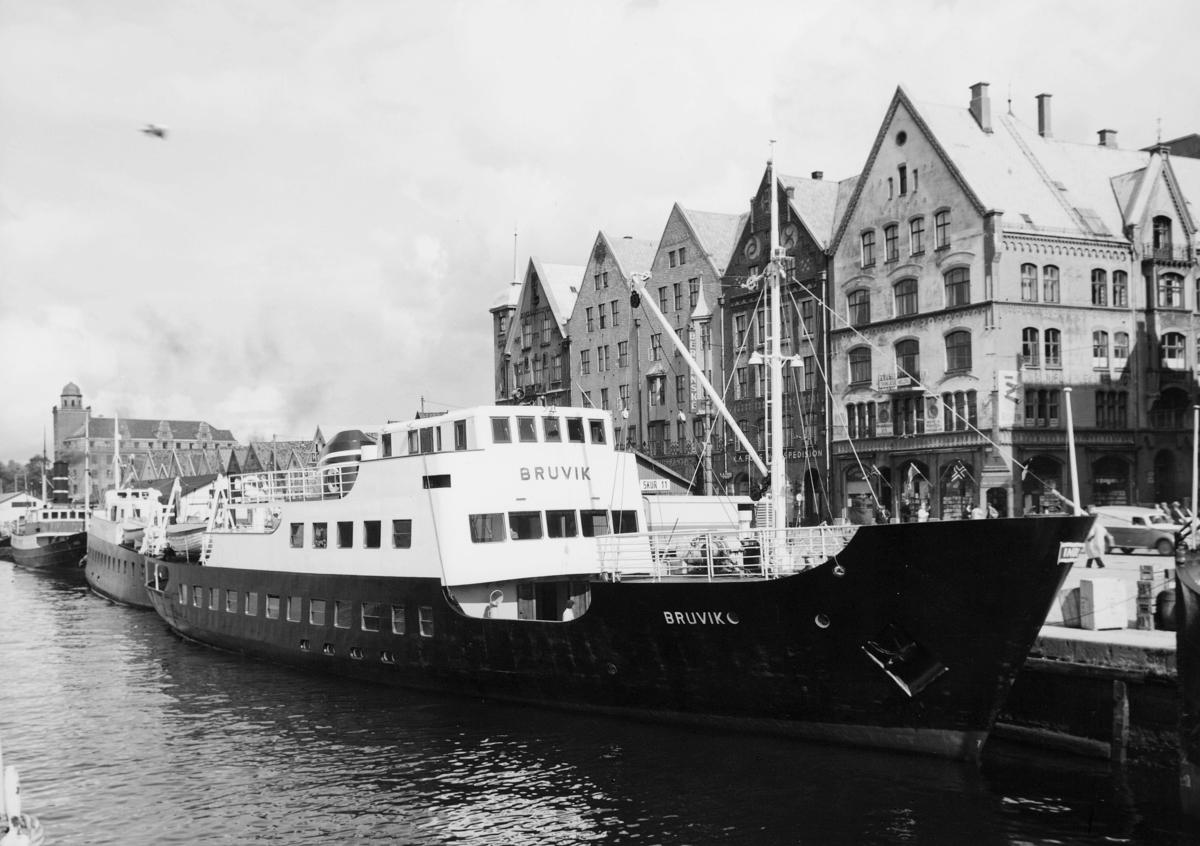 transport, båt, eksteriør, M/S Bruvik