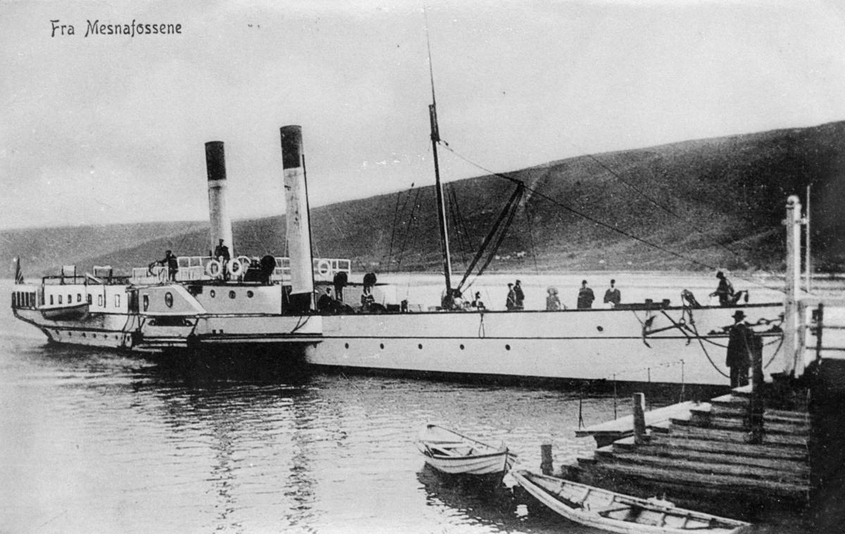 transport, båt, ved kai, Mesnafossene