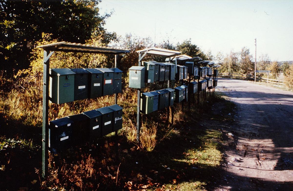 postkasser, private, vei en vei, eksteriør