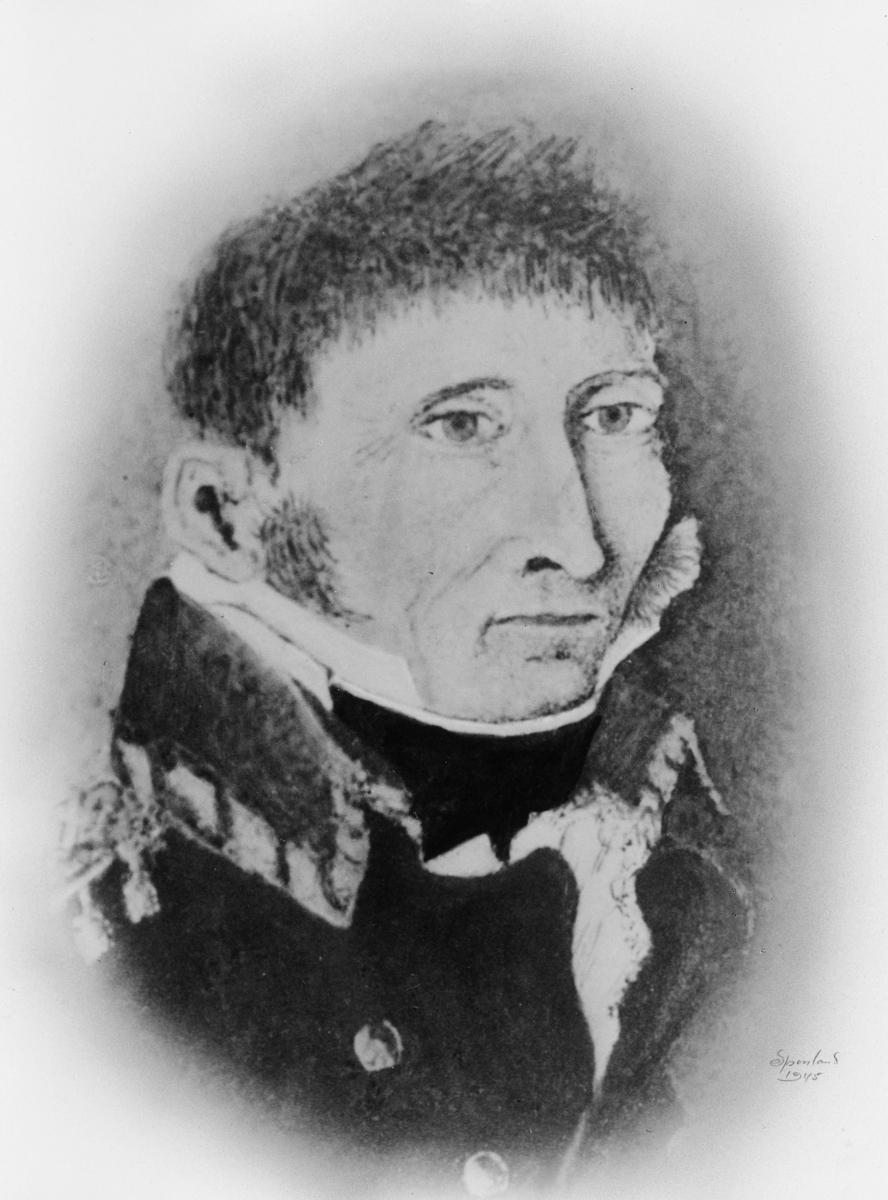 portrett, postmester, Peder Nicolay Randulff