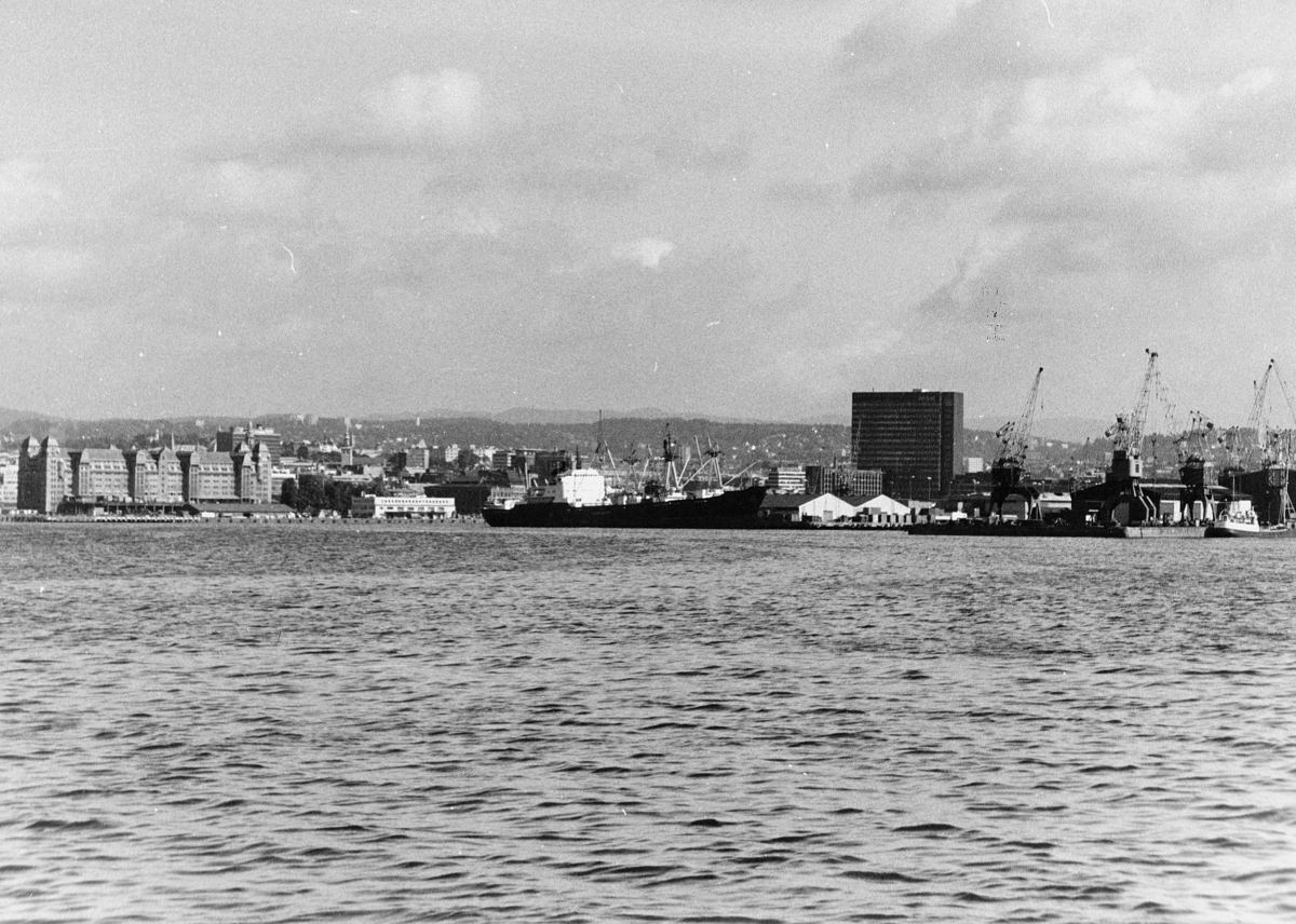 norgesbilder, Oslo havn, bybilde, vann, båter, bygninger