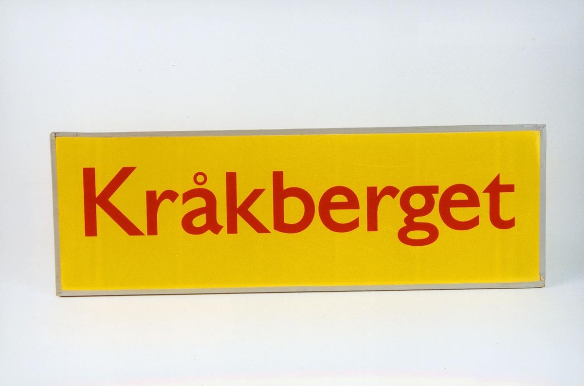 Postmuseet, gjenstander, skilt, stedskilt, stedsnavn, Kråkberget.