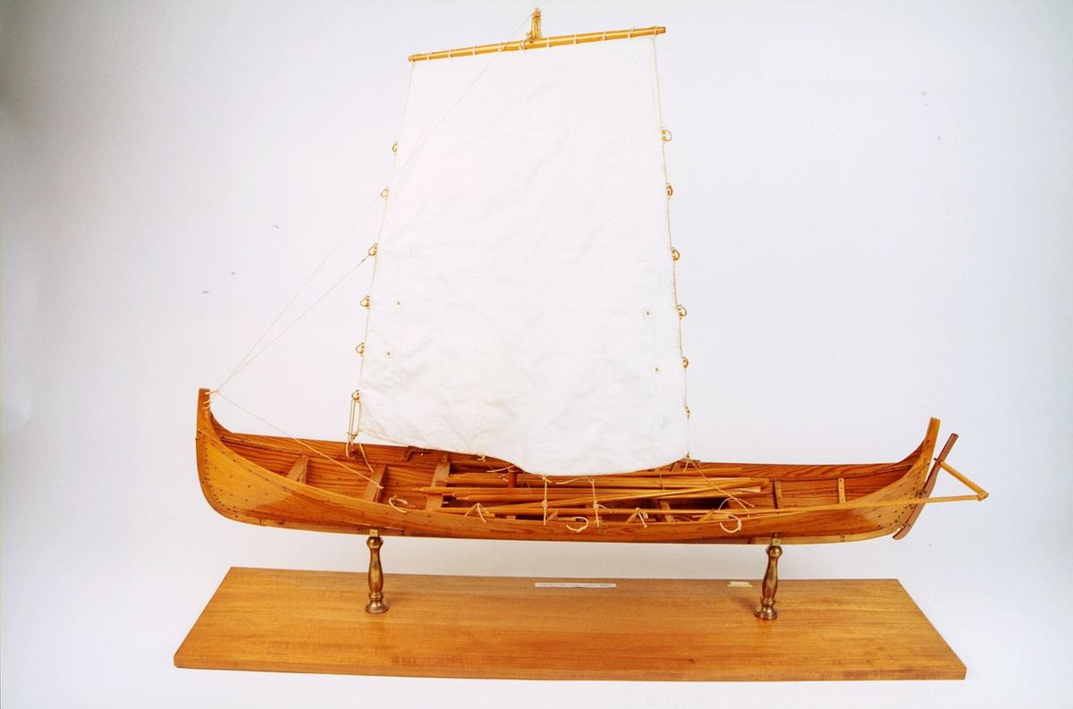 postmuseet, gjenstander, båt, båtmodell, nordlandsottring