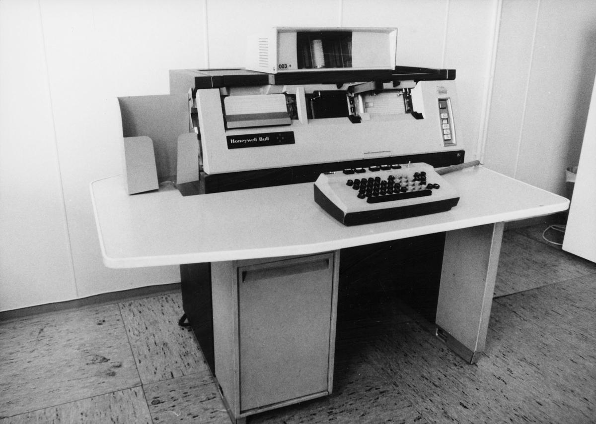 Postverkets datasentral, registreringsavdelingen, punchemaskin, Honeywell Bull, G-112, maskinnr 11207927
