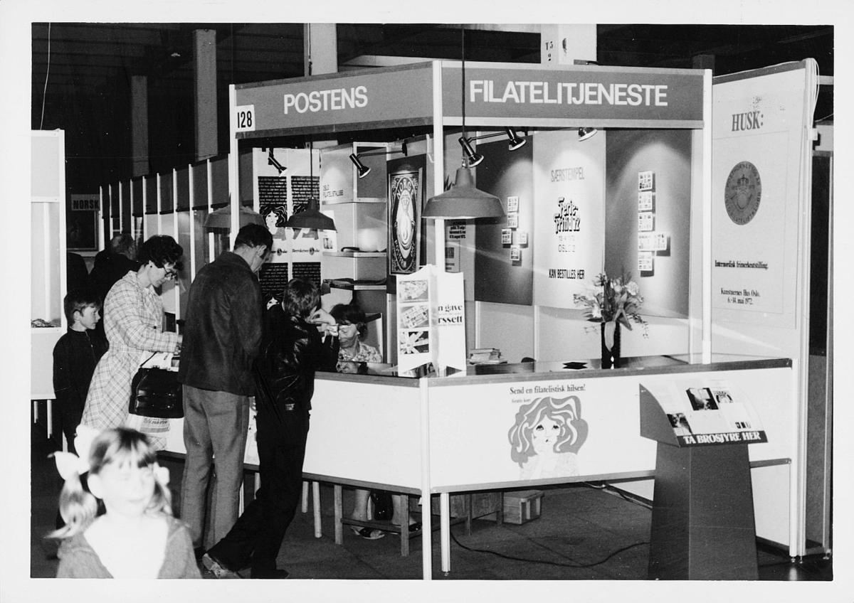 markedsseksjonen, ferie og fritid 13.4.1972, Oslo 2, postens filatelitjeneste stand