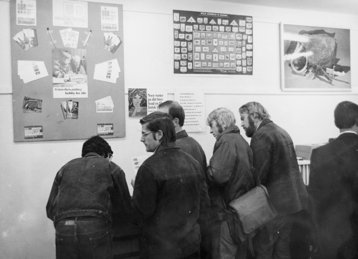 markedsseksjonen, Frimerkets dag '73, Saga kino, utstilling, filateli
