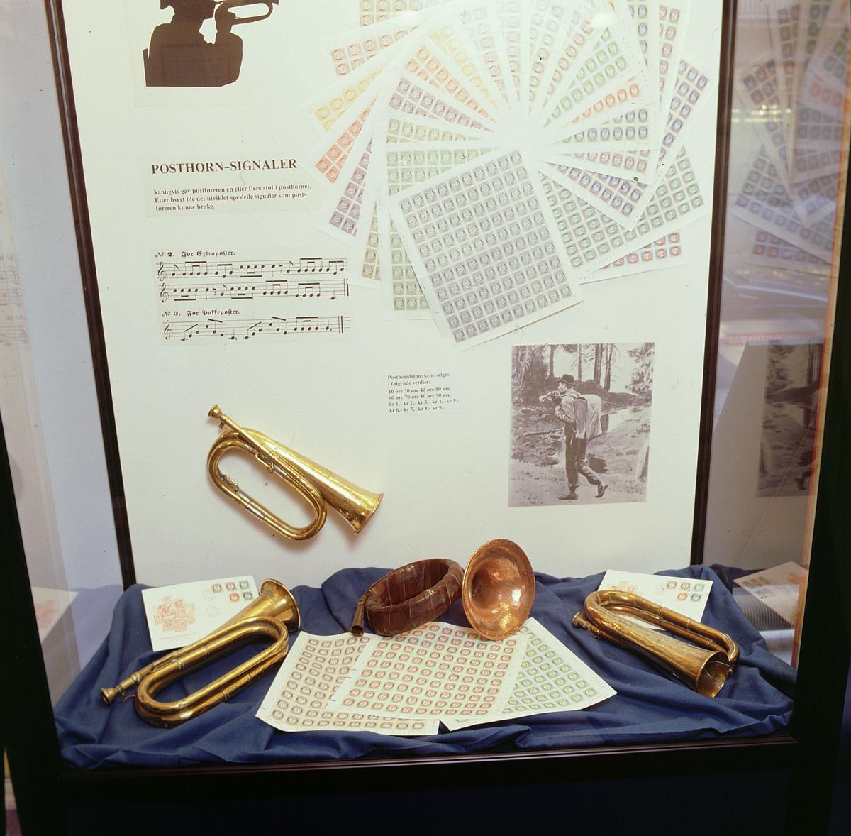 postmuseet, Kirkegata 20, utstilling, posthorn, posthornfrimerker