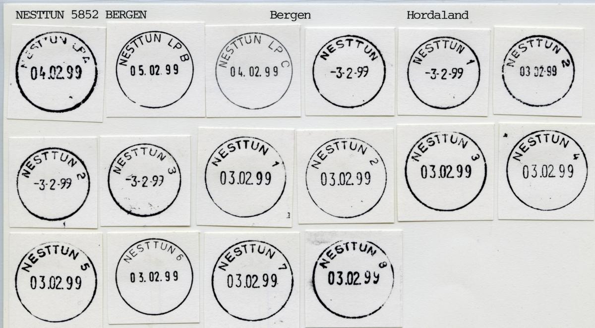 Stempelkatalog  5050 Nesttun, Fana kommune, Hordaland