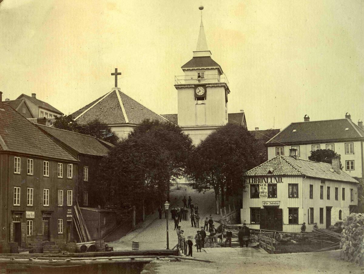 Stedsbilder Arendal Arendal kirke og Kirkebakken   Aaks 44 - 4 - 7 Bilde nummer 51