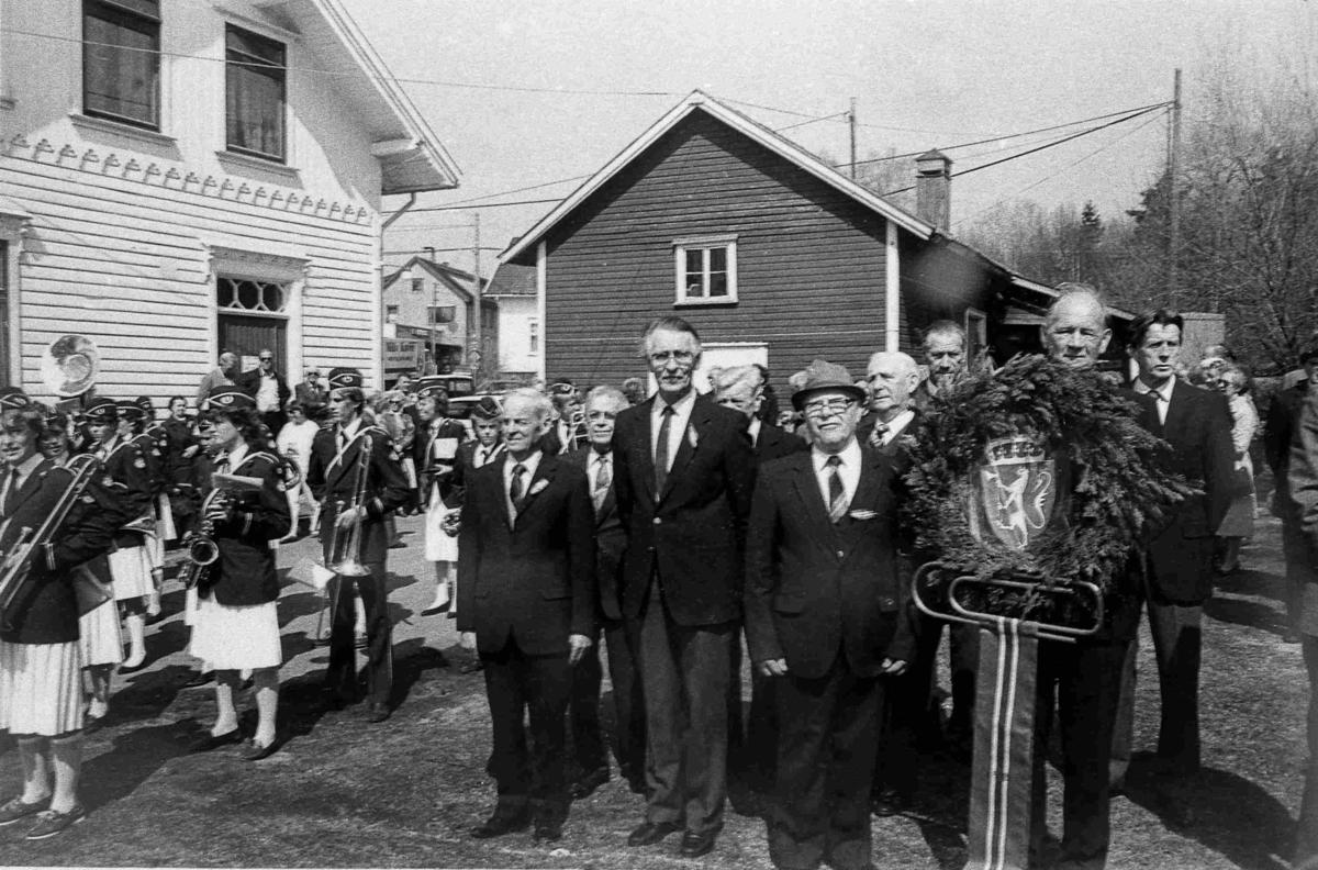 Bilder fra Birkenes kommune Frihetsmarkering 8. mai 1985