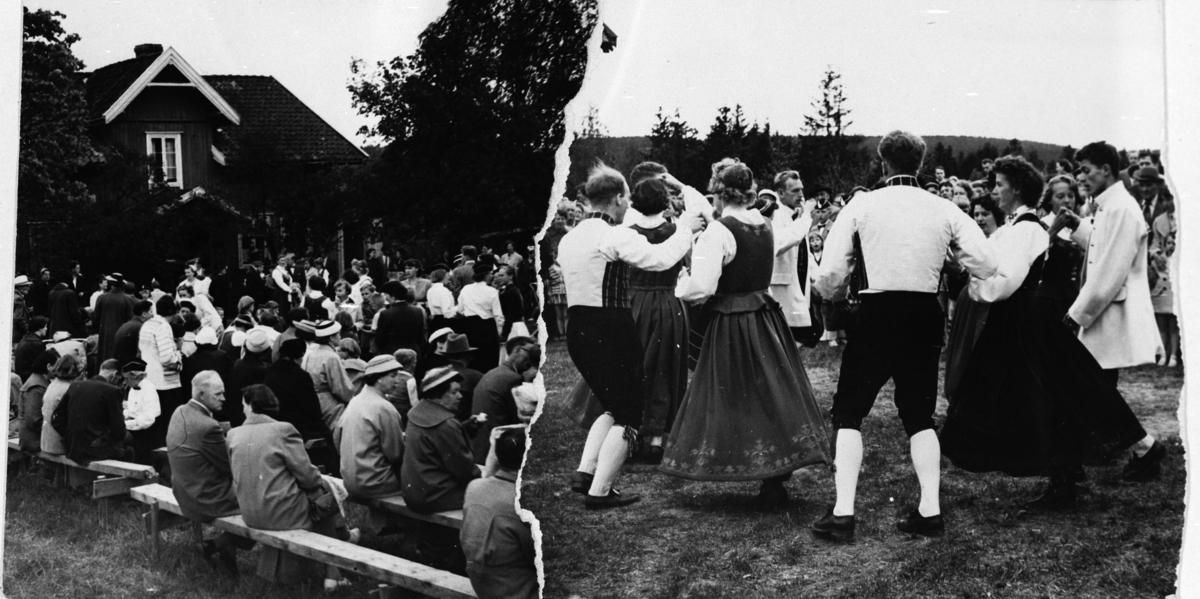 Leikarring-danser på historielag-stevne på Nordby gård.