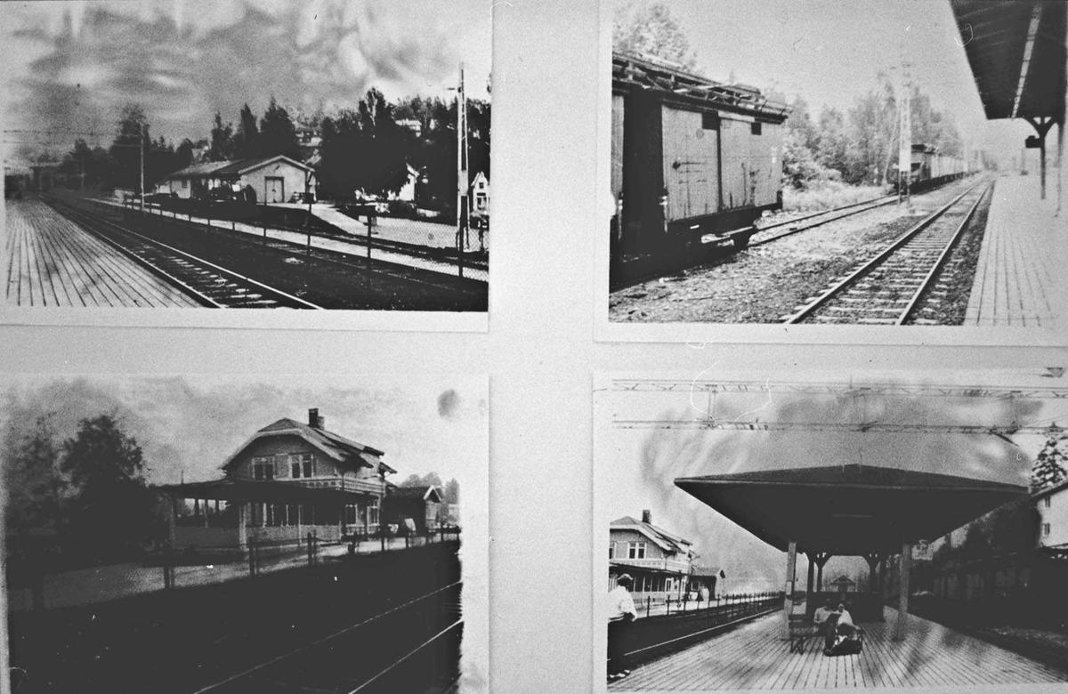 Fire bilder fra Lørenskog stasjon.