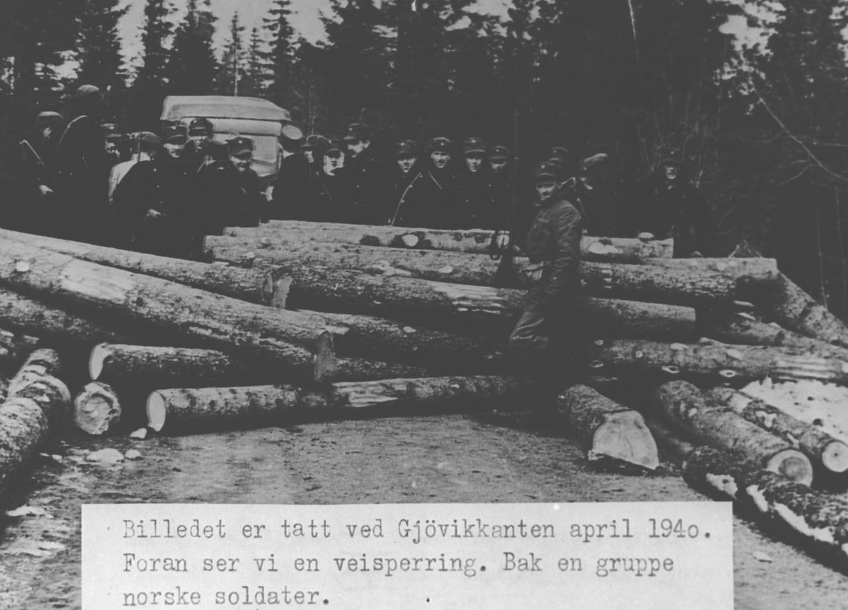 Veisperring med norske soldater.