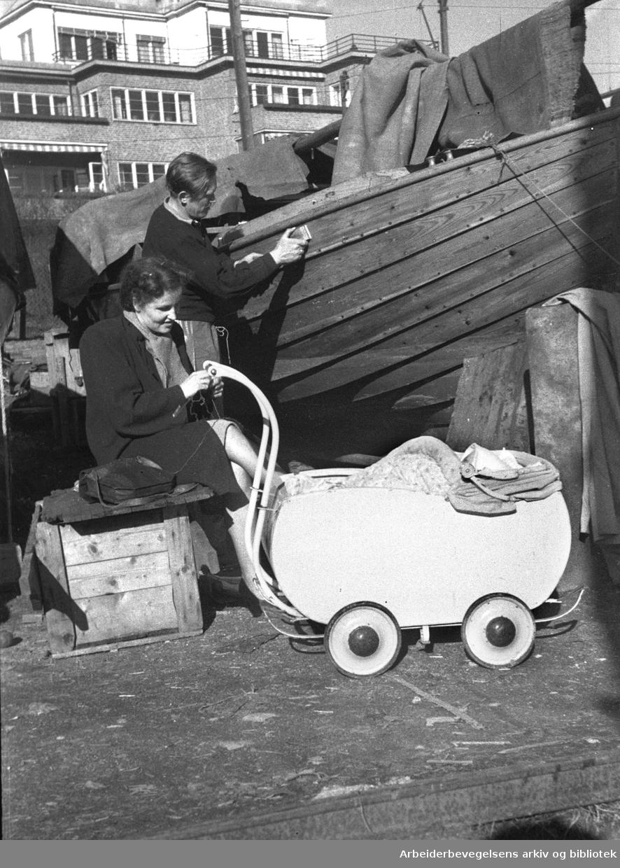 Båtpuss om våren,.1952-54