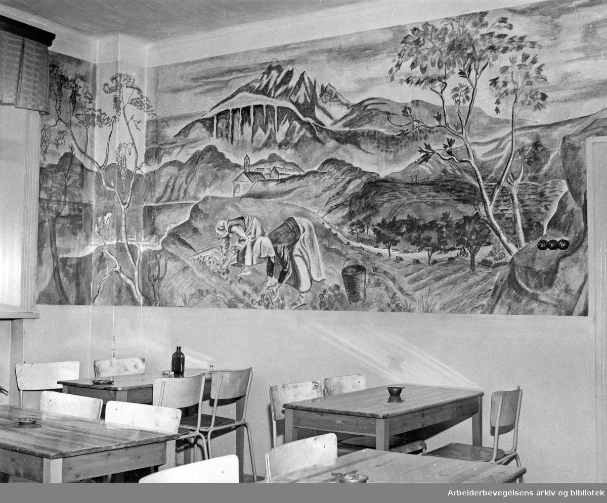 Oslo veivesens spisesalen i Kjølberggata 9, 1945-50