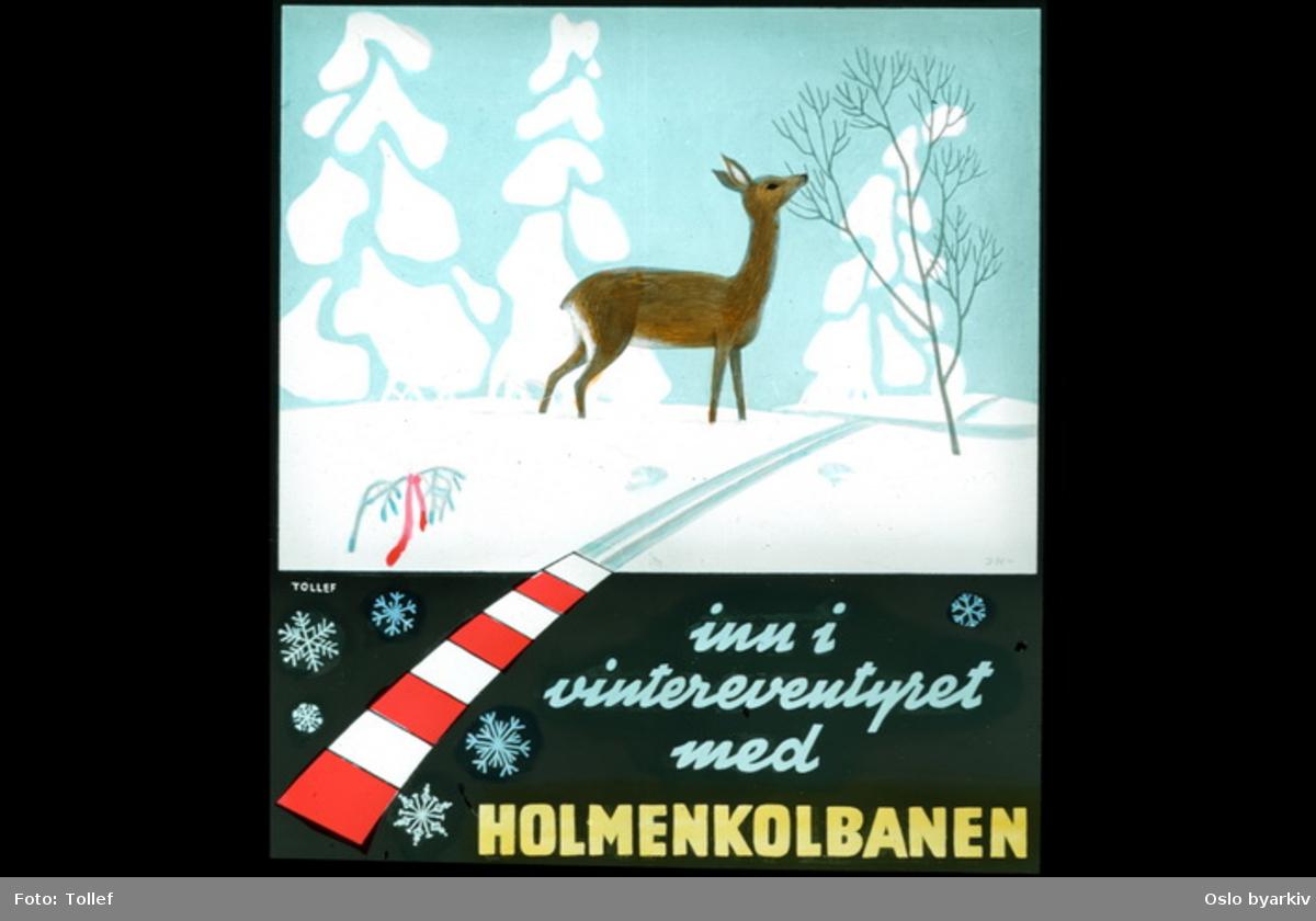 Reklameplakat for Holmenkollbanen.
