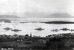 Molde by sett fra nord., Molde by sett fra nord..Flåtebesøk