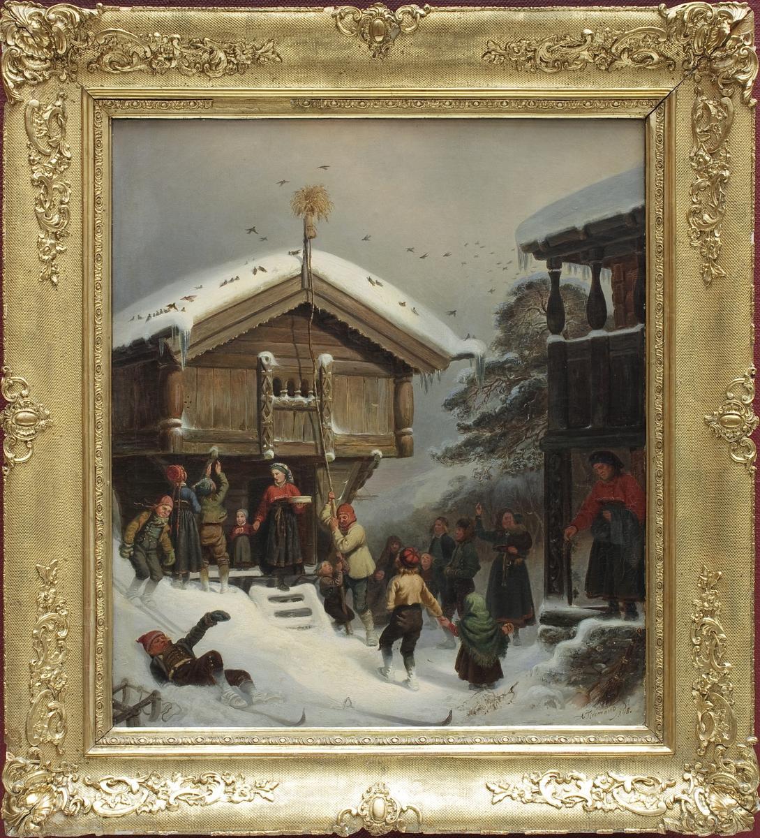 Skildring av tradisjonell julefeiring i bygdenorge
