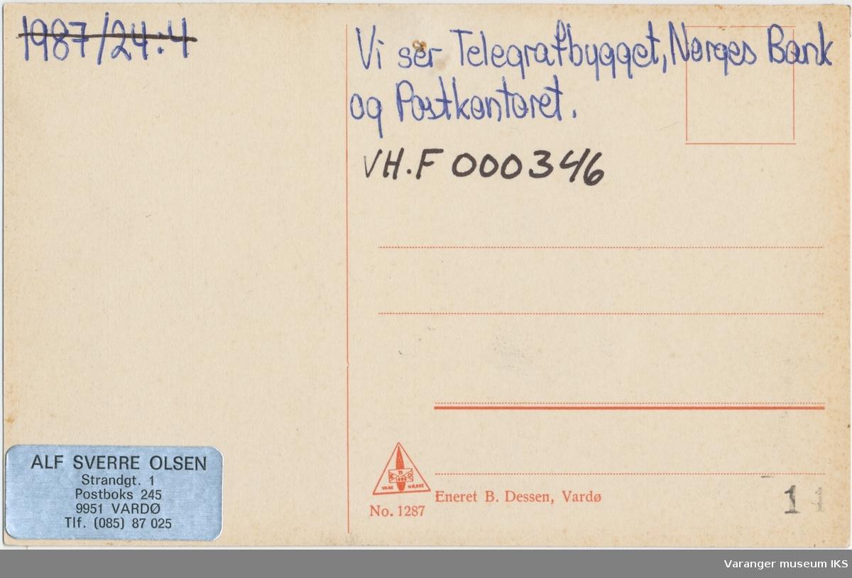 Postkort, Søndre Våg og Valen, sett fra Kristian IVs gate, ca.1900