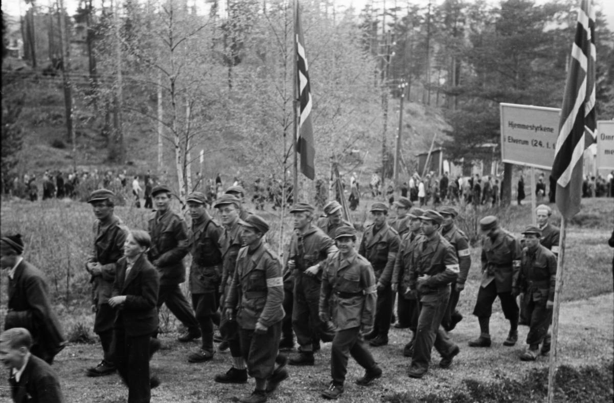 17. mai-tog 1945. Hjemmestyrkene.