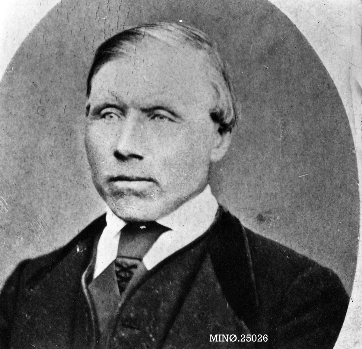 """Portrett av mann - Ola Jonsson Strålsjø, også kalt """"Svarthugugubben"""""""