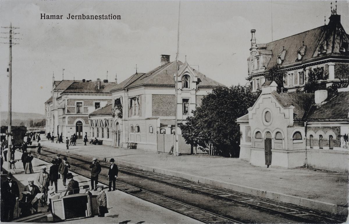 Hamar Jernbanestation, Jenbanestasjon, Hamar,