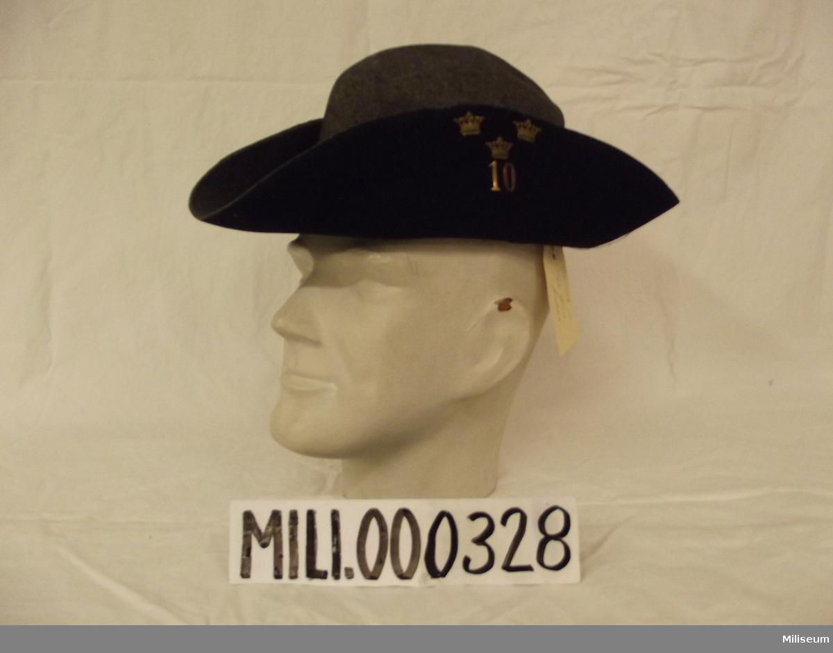 Hatt m/1910 för manskpa, 10 kompaniet.