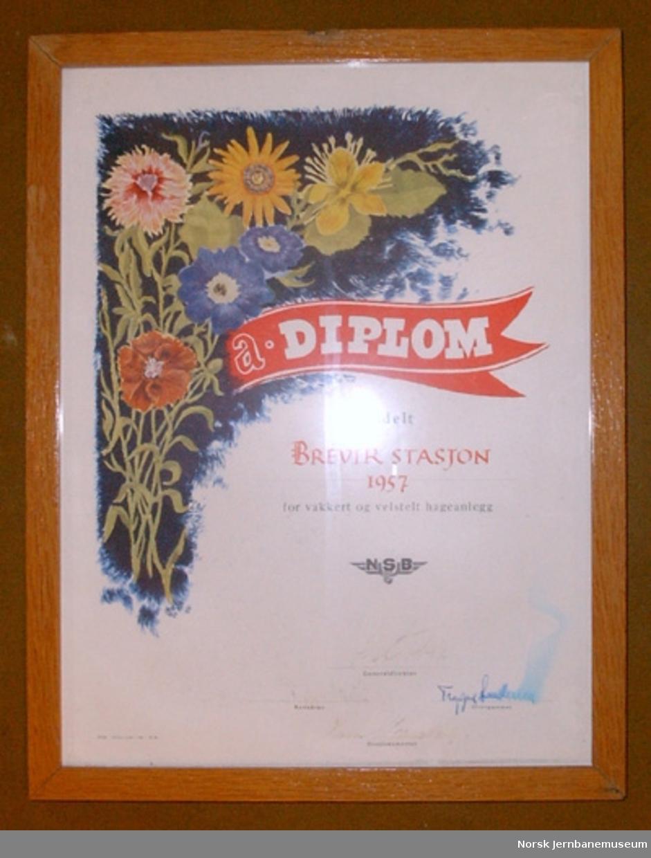 Diplom for vakkert og velstelt hageanlegg
