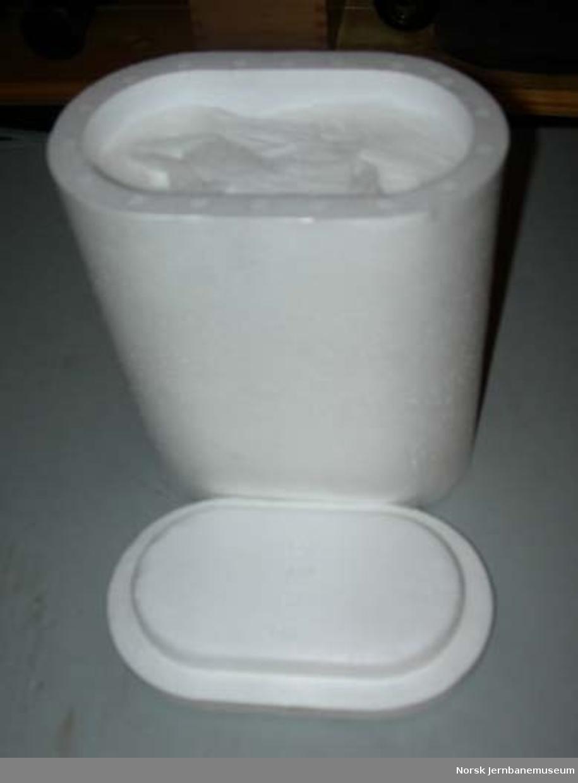 Urinalboks (tisseboks) for lokomotivpersonale
