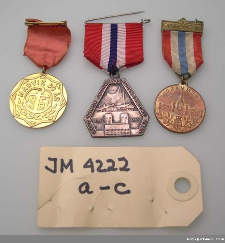 Medalje - stevnemedalje fra sangerstevner