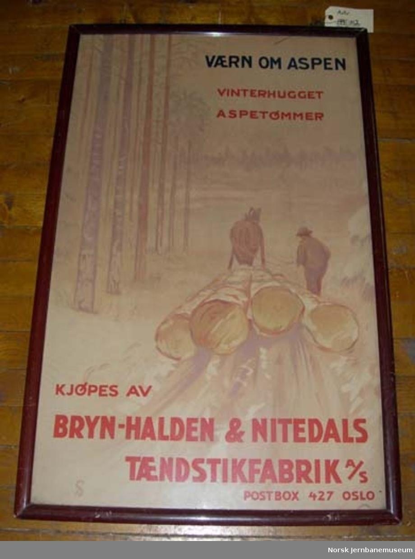 Reklameplakat Bryn-Halden & Nitedals Tændstikfabrik as