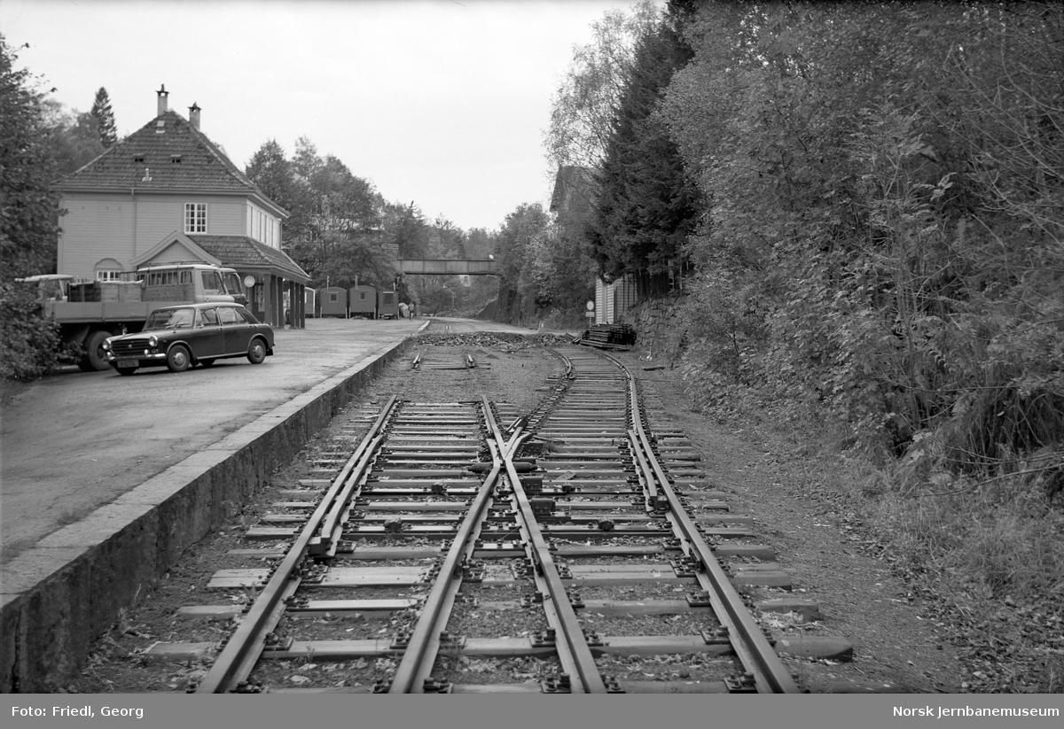 Riving av spor på Hop stasjon