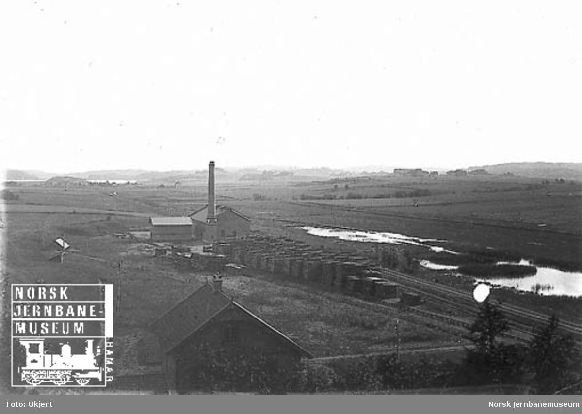 Impregningsverket på Råde med jernbanens sidespor
