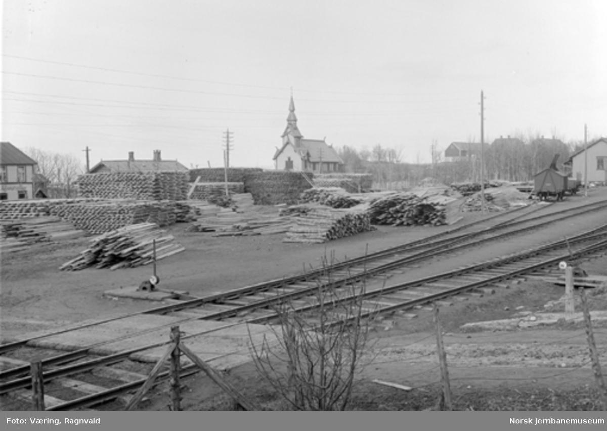 Trelast på Ranheim stasjon