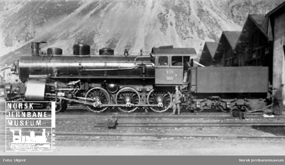 Sveitsisk damplokomotiv type A3/5 nr. 938