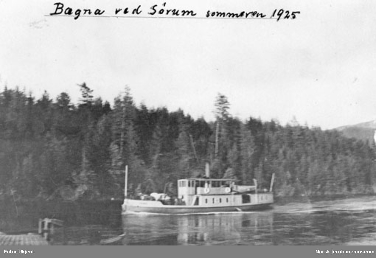 """Dampbåten """"Bægna"""" ved Sørum"""