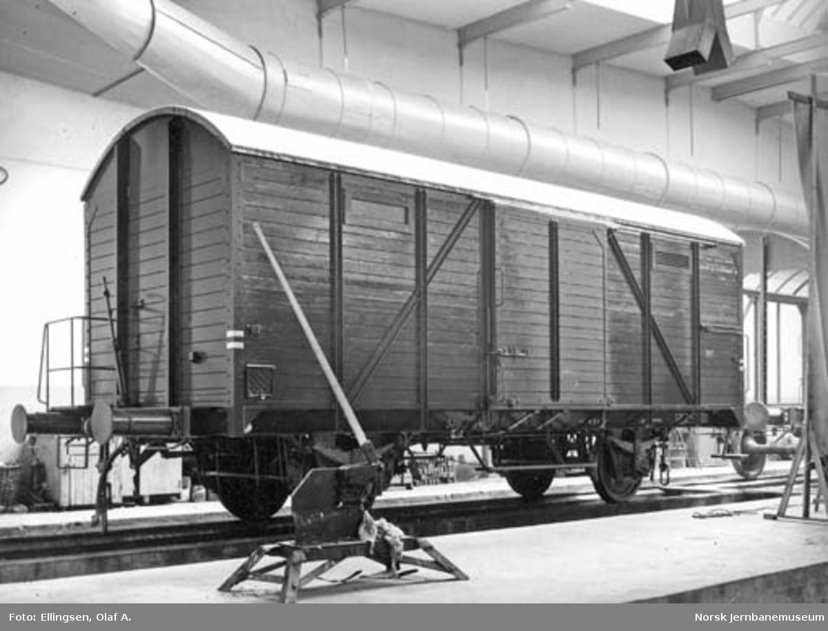 NSB Verkstedet Kvaleberg : ferdig G type 2-godsvogn