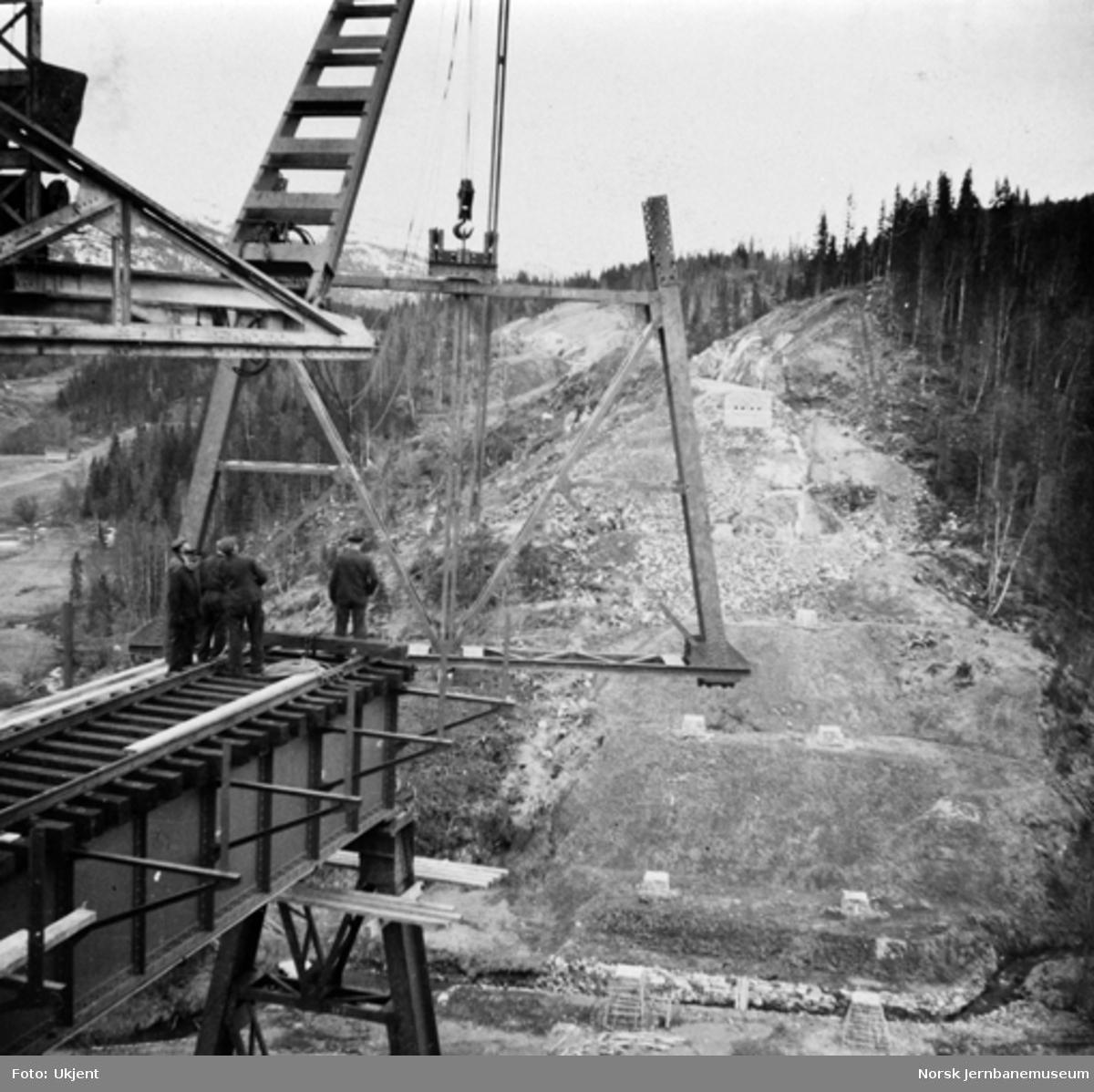 Trolldalen viadukt under bygging : pilar 2