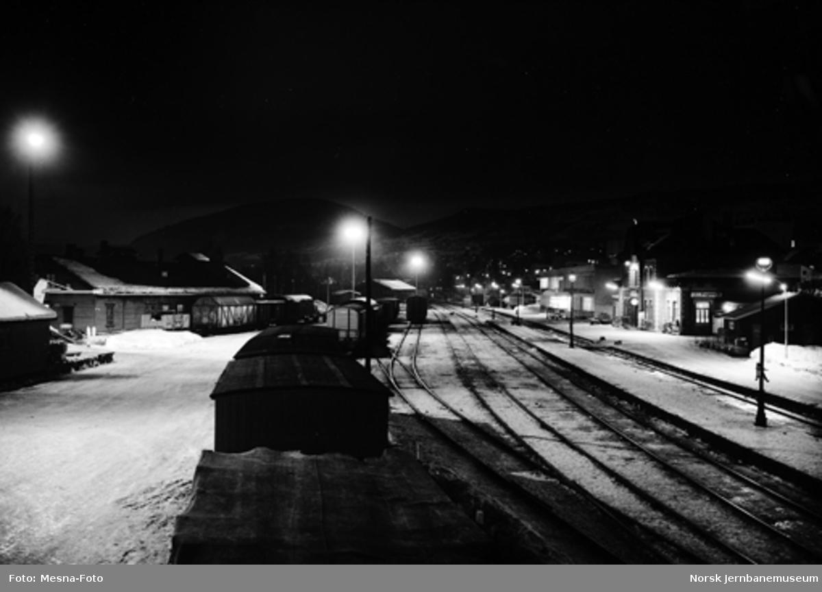 Lillehammer stasjon : ny tomtebelysning