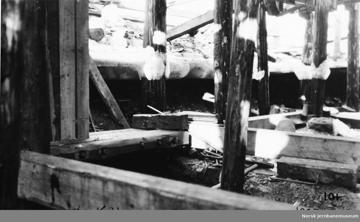 Bygging av bru ved Kollanes: spuntvegg