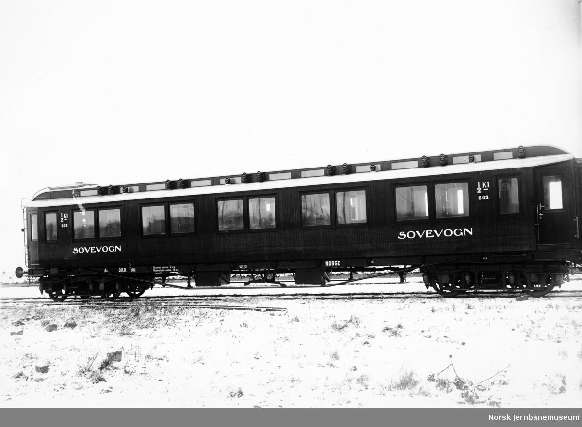 Sovevogn litra Ao nr. 602 ved leveransen fra Kockum