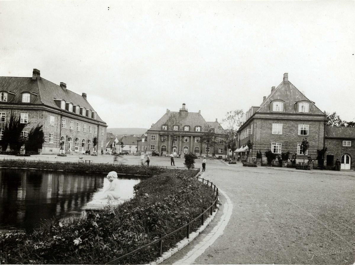 Damplassen, Ullevål haveby, Oslo. Dammen og plassen.